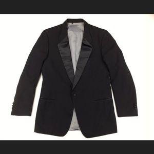 Christian Dior Men's Black Tuxedo Blazer Jacket